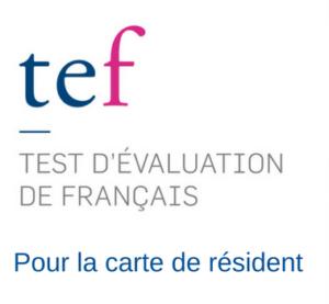 E-TEF POUR LA CARTE DE RÉSIDENT - Centre de Formation ABC